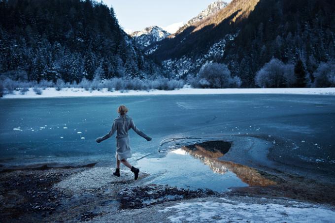 斯洛文尼亚郊外的冬天