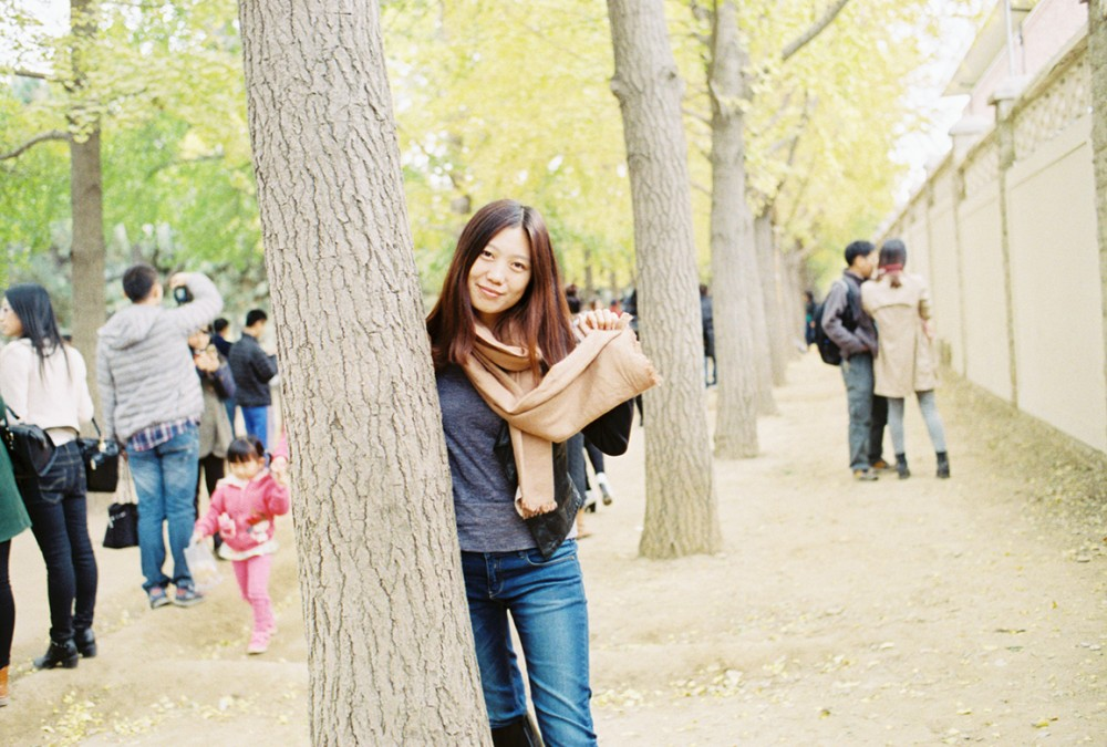 去年秋天  钓鱼台银杏大道 北京-菲林中文-独立胶片摄影门户!